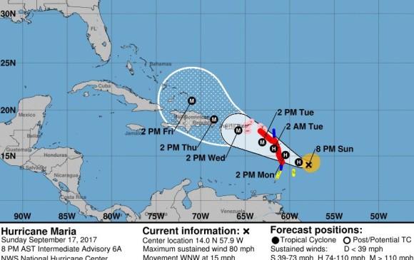 EN VIVO: El golpe del huracán María en República Dominicana