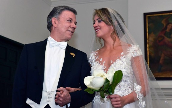 Así fue el matrimonio de la hija de Santos — En fotos