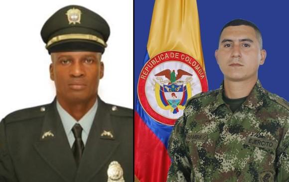 Intendente Wilber Rentería y soldado Jesús Alberto Ramírez Silva. FOTOS: Cortesía