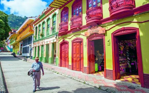 Las viviendas y edificaciones tradicionales que conserva el municipio son uno de los atractivos de Jericó, que hoy cuenta con políticas de turismo consolidadas y acordes a su oferta. FOTO Jaime Pérez