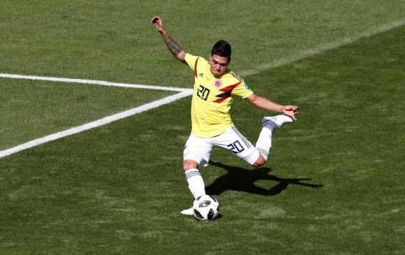 Juan Fernando Quintero, jugador del River Plate (a préstamo por Porto), fue uno de los destacados por Colombia. FOTO Reuters