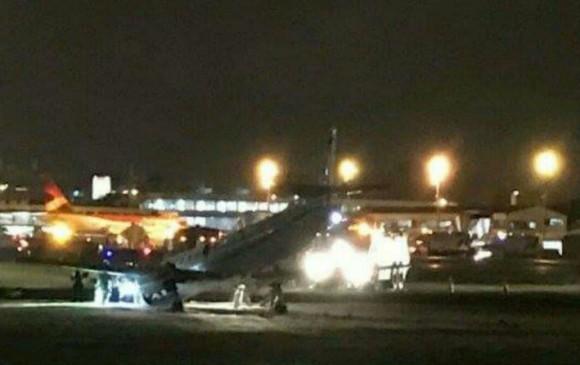 Emergencia en avión en el que viajaba el Ministro del Interior
