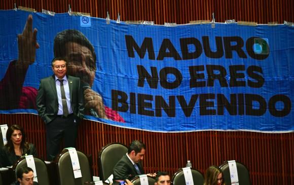 Los diputados del PAN calificaron de dictador a Maduro luego de que Obrador lo mencionara en su discurso de toma de posesión. Foto AFP