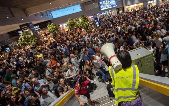 La policía evacua parte del aeropuerto de Frankfurt