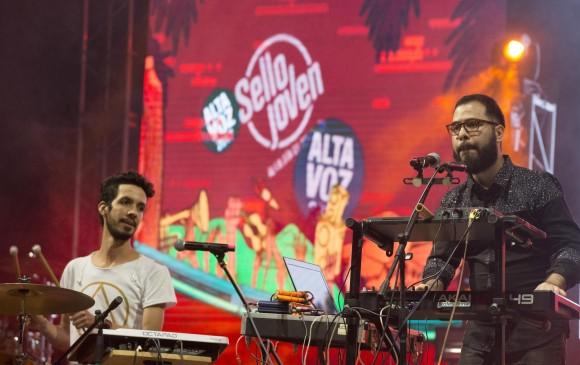 La banda Sol de Girardota fue la parte musical de la presentación oficial del cartel de Altavoz Fest 2017. Foto: Edwin Bustamante