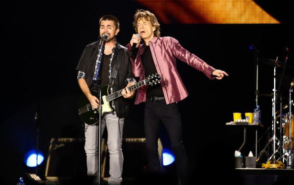 Juanes en el concierto de Rolling Stones en Colombia. FOTO Colprensa