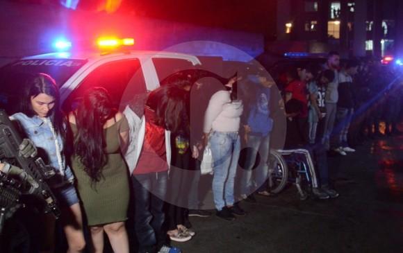 En el operativo cayeron 15 miembros de la banda La Imperial. FOTO CORTESÍA POLICÍA METROPOLITANA