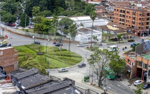 Este es el sector donde se construirá el intercambio de Pilsen, en Itagüí, a un costo de $55.000 millones. FOTO juan antonio sánchez