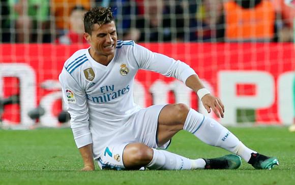 Cristiano Ronaldo salió lesionado del clásico contra Barcelona