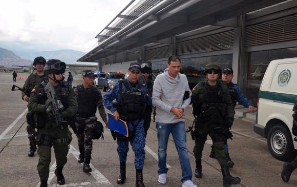 """Diego Alberto Muñoz Agudelo, conocido como """"Diego Chamizo"""", fue el ultimo jefe de """"a Oficina"""" capturado. FOTO CORTESÍA POLICÍA METROPOLITANA"""