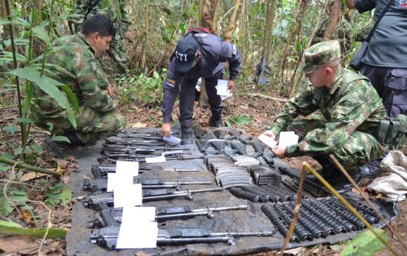 Farc catalogan como falso positivo descubrimiento de caleta de armamento