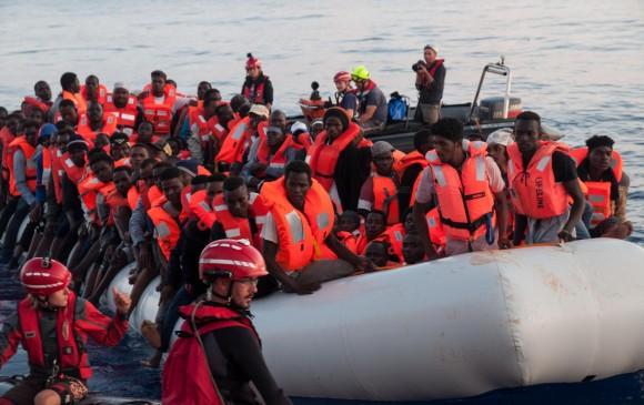 Imagen de archivo de un rescate de la ONG Lifeline. FOTO: AFP