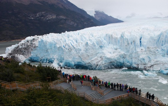 Comenzó la ruptura del glaciar en Perito Moreno