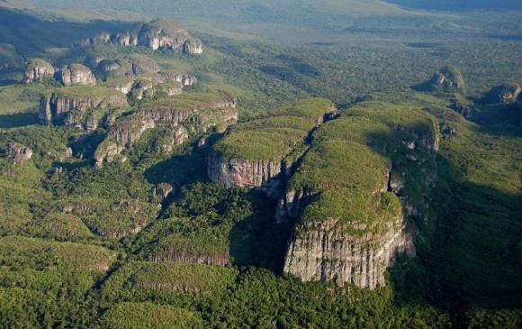 Como un mundo perdido en el corazón de la Amazonía colombiana se yergue la serranía de Chiribiquete. FOTO COLPRENSA