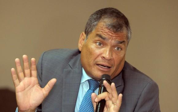 Rafael Correa, expresidente de Ecuador. FOTO: EFE