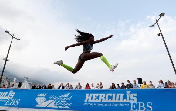 Caterine Ibargüen quedó fuera del podio después de seis años
