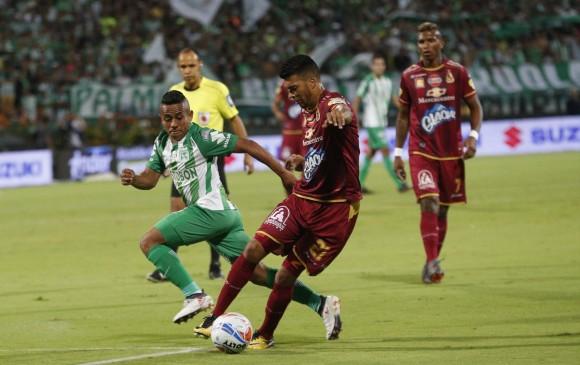 Jorge Almirón podría ganar su primer título en Nacional con poco más de cuatro meses en el equipo. FOTO: JAIME PÉREZ