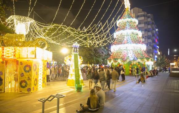 Envigado es uno de los municipios más iluminados del área metropolitana. FOTO EDWIN BUSTAMANTE
