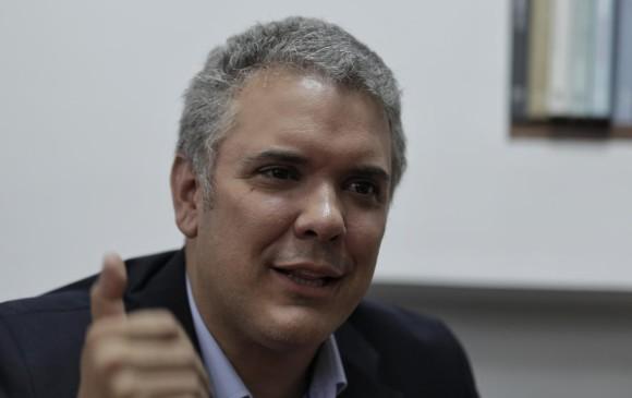 Iván Duque, candidato presidencial. FOTO COLPRENSA