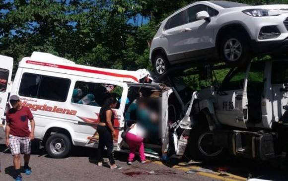 10 muertos en un accidente en una ruta del noreste — Colombia