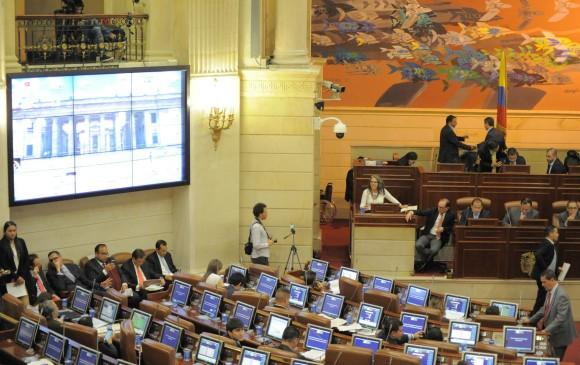 Cámara de Representantes durante un debate realizado a finales de septiembre. FOTO: COLPRENSA