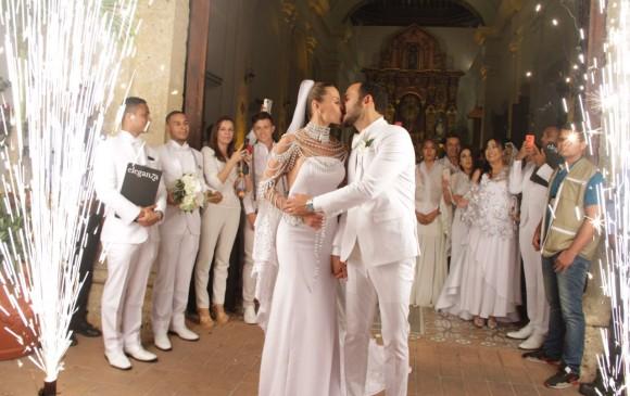 El matrimonio de Paula Andrea fue en Cartagena. FOTO Colprensa - El Universal