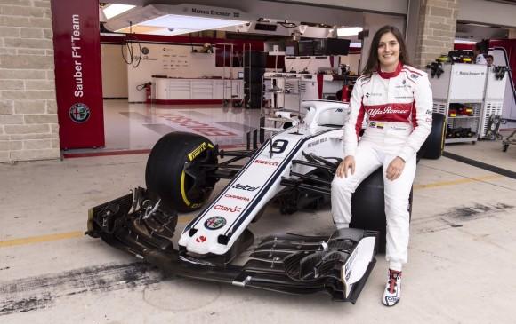 Tatiana Calderón ahora conduce un C32 de Sauber