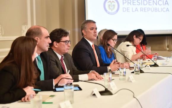 El presidente Iván Duque encabezó una reunión en la que se anunció el plan para mejorar el servicio de energía en el Caribe. Foto: Cortesía Presidencia.