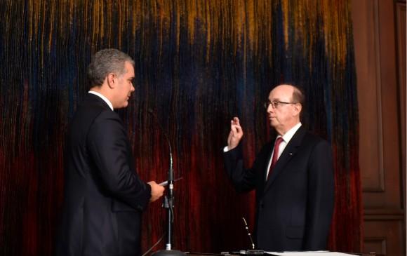 Guillermo Fernández de Soto es el nuevo embajador de Colombia ante la ONU. FOTO: Cortesía Presidencia