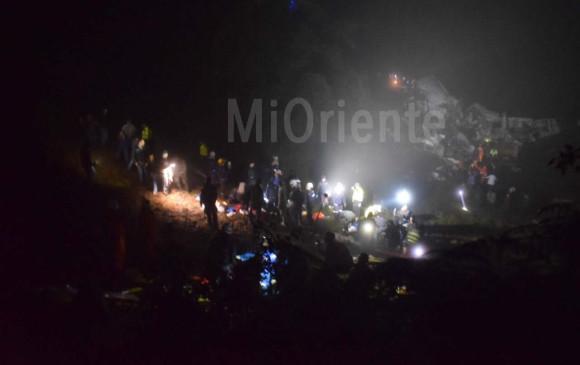 Así se ve a esta hora el lugar del accidente. FOTO Cortesía Mi Oriente
