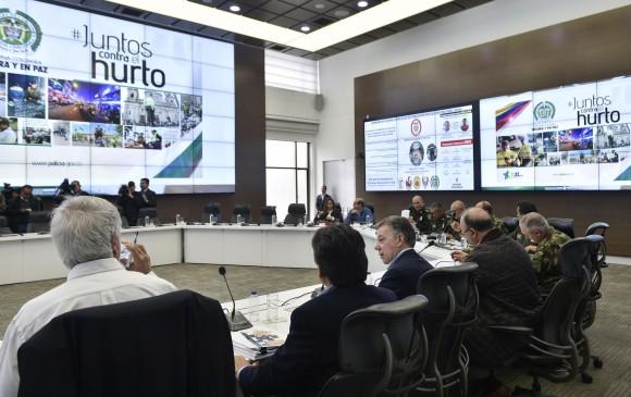 Santos lidera Consejo extraordinario de Seguridad en Bogotá