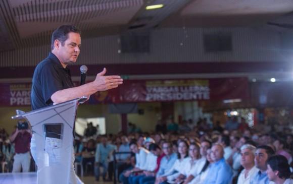 """Este jueves el candidato Germán Vargas presentó sus propuestas de """"Mejor Ambiente"""" en Barrancabermeja (Santander). FOTO CORTESÍA CAMPAÑA"""