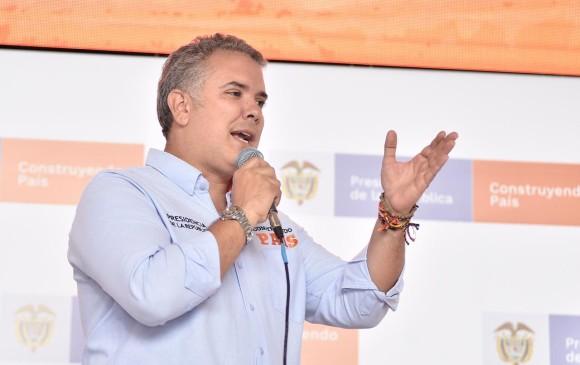 Iván Duque. FOTO COlPRENSA