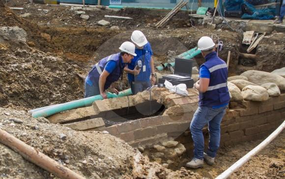 Luego del registro arqueológico, la construcción se ubicará en el Parque de la Fecundidad en Envigado. FOTO carlos velásquez