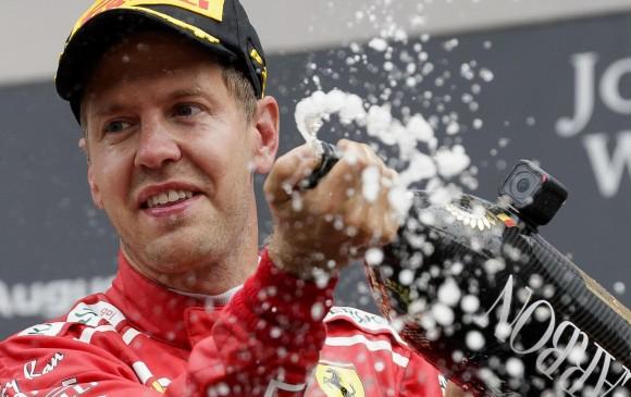 Vettel impuso la ley de Ferrari en un caótico GP en Bélgica