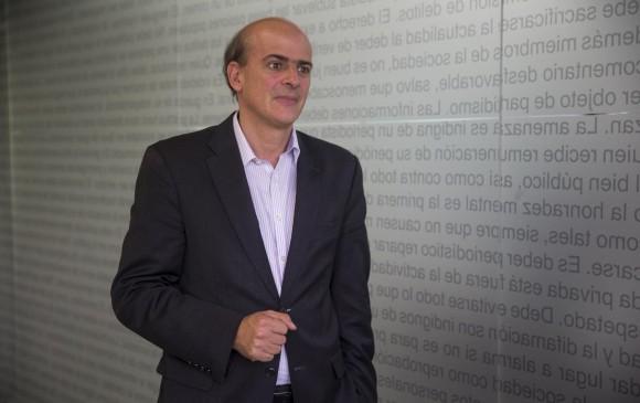 Luis Felipe Jaramillo, miembro de la junta directiva de Colfranquicias, defiende las bondades de este modelo de negocio. Foto. Esteban Vanegas.