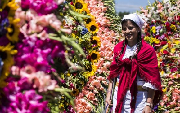 Este domingo es el Desfile de las Flores, en Jackson Heights, Quenns, en el cierre del Flower Festival 2018. Foto Archivo EL COLOMBIANO