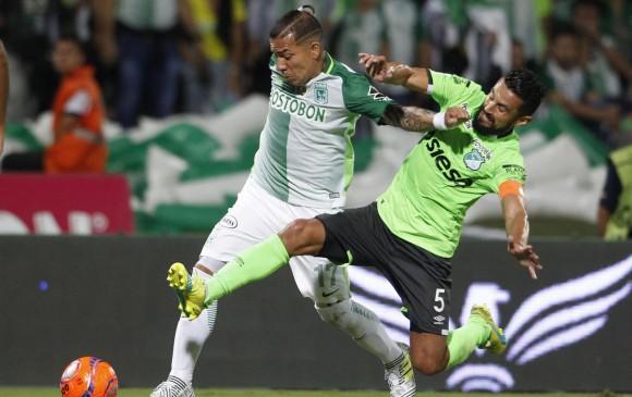 Dayro Moreno se consagró además como el goleador del torneo colombiano. FOTO EFE