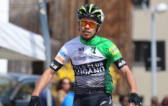 Rendón es otra promesa del ciclismo nacional. En Vuelta del Porvenir fue campeón por puntos y logró 2 etapas. GP di Loano, en Italia, siguiente cita este fin de semana. FOTO CORTESÍA GP DE Valloton
