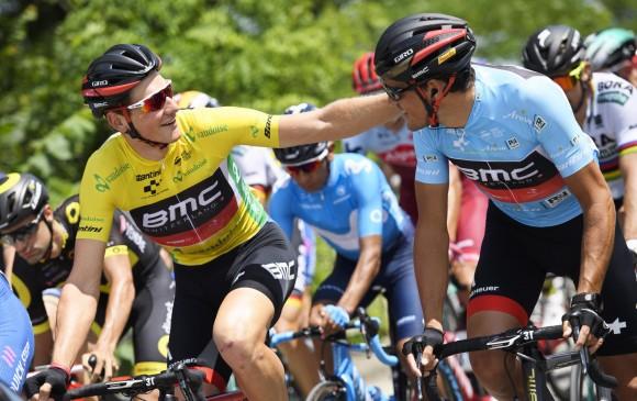 Fernando Gaviria, otra vez segundo en remate de etapa en Suiza