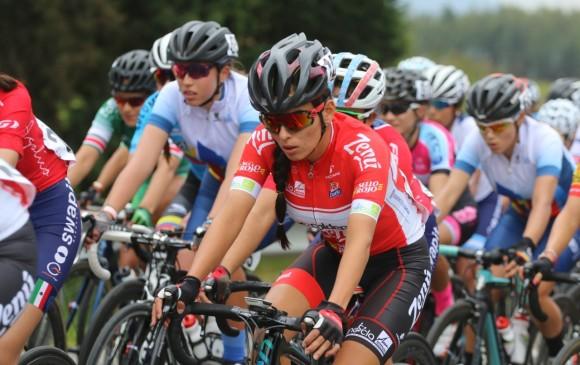 Estefanía arribó ayer 12° en la primera etapa de la Vuelta, a 13 segundos de la ganadora. FOTO CORTESÍA ÁNDERSON BONILLA