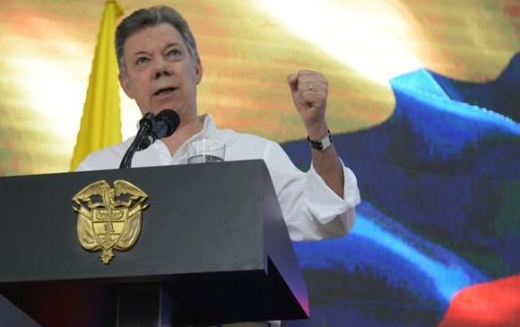El presidente de la República, Juan Manuel Santos. FOTO COLPRENSA.