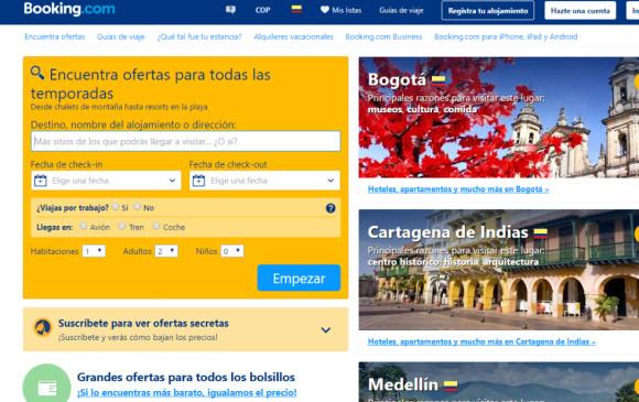 El Gobierno colombiano sanciona Booking.com por infringir normas de turismo