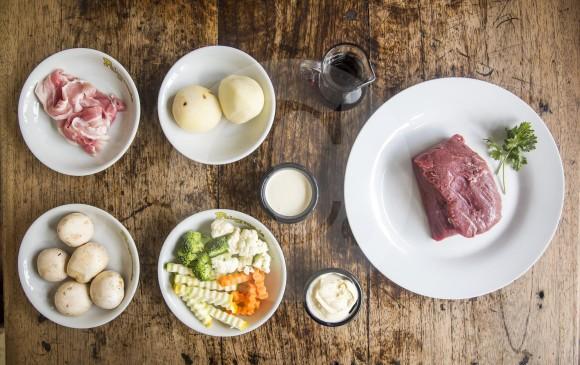 Estos son los ingredientes del Filet Mignon. FOTO Carlos Velásquez Locación Restaurante Palogrande.