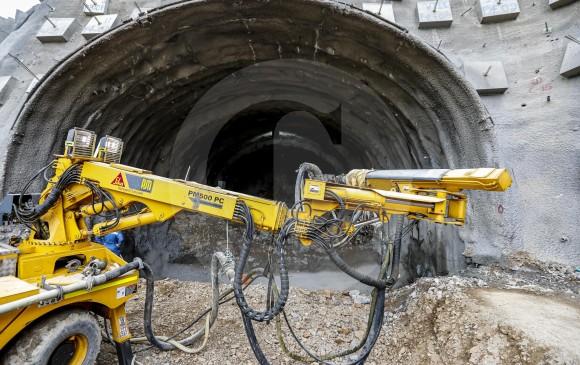 Según la concesión Covipacífico, el túnel de Amagá ajusta 20,78 % de avance. FOTOS Jaime pérez