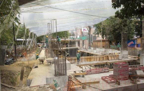 Este es el estado actual del proyecto Parque Cultural Otraparte. Cuando la obra esté en un 70% se debe comenzar con la replantación de árboles en Envigado. FOTO Edwin Bustamante