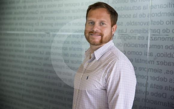 Camilo Sarasti Samper, nuevo gerente nacional de Domicilios.com, habló de los planes para 2018. FOTO Esteban vanegas