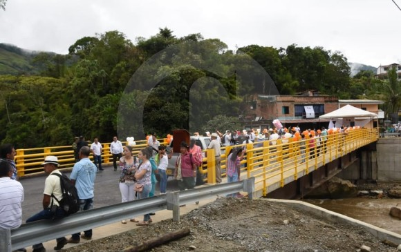 El nuevo puente reactivará la economía de la zona. FOTO CORTESÍA GOBERNACIÓN