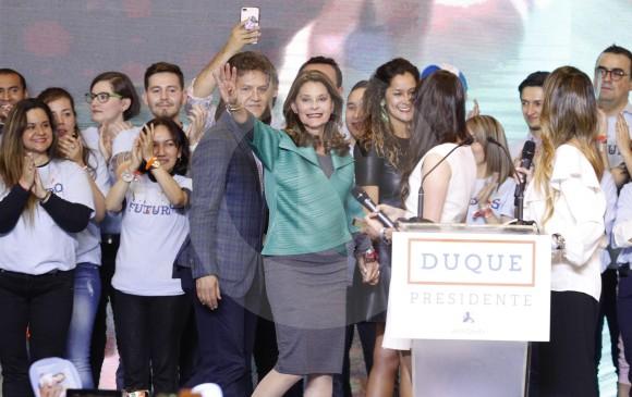 La primera mujer vicepresidente de Colombia, Marta Lucía Ramírez, quien hizo presencia en la tarima.