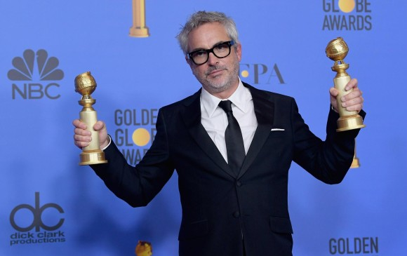 Alfonso Cuarón ganó dos premios por su pelicula Roma. FOTO AFP